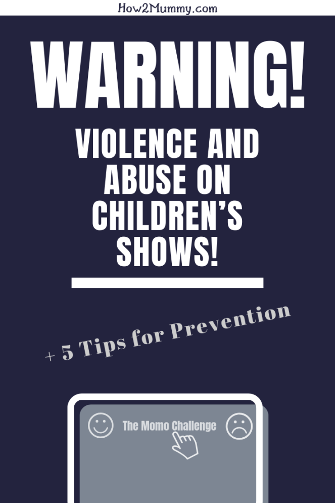 Do you let your child watch TV alone? Surf on the internet without an adult's supervision? You might want to rethink that! Even if your kids aren't babies anymore, they are endangered by this new trend of violence and abuse on children's shows! Read the post with tips how to protect your children against the danger of harmful kids shows! #youtubekids #themomochallenge #momo #fakepeppapig #fakepawpatrol #violence #abuse #protectthechildren #tips #keepkidssafe